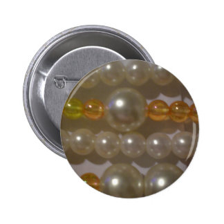 Pearl Beads 2 Inch Round Button