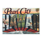 Pearl City, Hawaii - Large Letter Scenes Canvas Print
