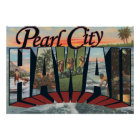 Pearl City, Hawaii - Large Letter Scenes Poster