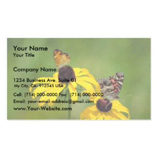 Pearl crescent and American painted lady butterfli Business Card