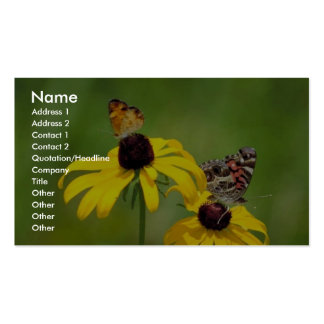 Pearl crescent and American painted lady butterfli Business Cards