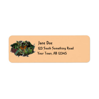 Pearl Crescent Butterfly label