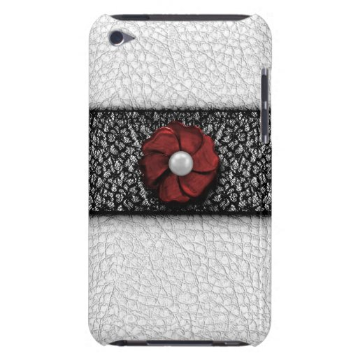 Pearl Flower and Lace Barely There iPod Case