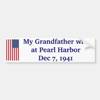 Pearl Harbor - 1941 Bumper Sticker
