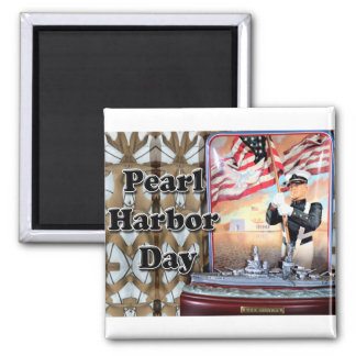 Pearl Harbor Day Square Magnet