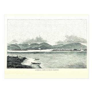 Pearl Harbor, Oahu, Hawaii 1890 Postcard