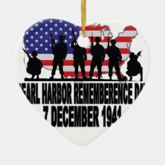 Pearl Harbor Remembrance Day L.png Ceramic Ornament