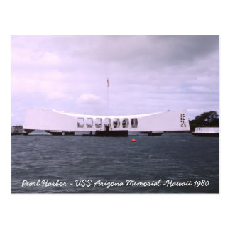 Pearl Harbor USS Arizona Memorial Hawaii Postcard