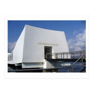 Pearl Harbour Memorial Postcard