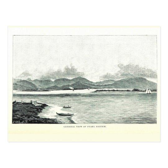Pearl Harbour, Oahu, Hawaii 1890 Postcard