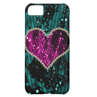 Pearl Heart Cover For iPhone 5C