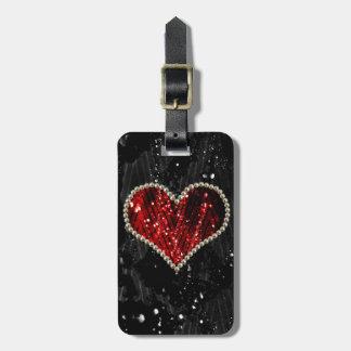 Pearl Heart Luggage Tag