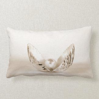 pearl in seashell lumbar pillow