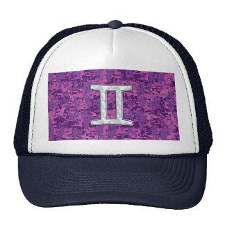 Pearl Like Gemini Zodiac Symbol Digital Camouflage Trucker Hat