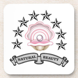 pearl natural beauty coaster