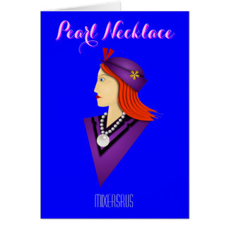 Pearl Necklace Drink Recipe Greeting Card