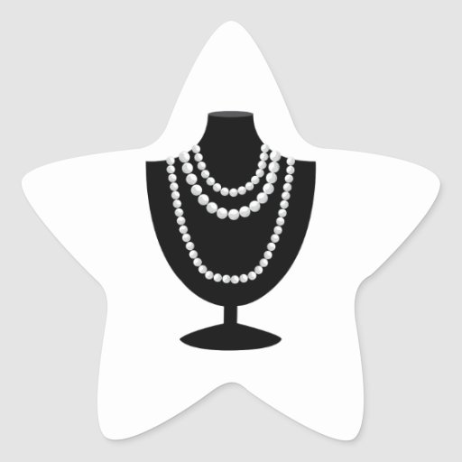 Pearl Necklace Star Stickers