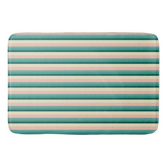 Pearl of the Sea Stripes Bathroom Mat