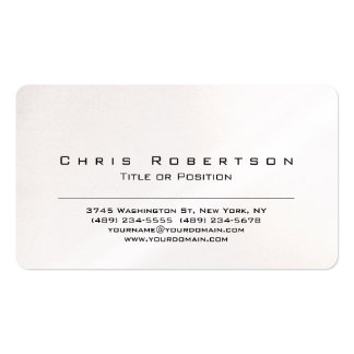 Pearl Rounded Corner Charming Business Card
