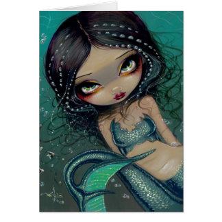 Pearl Swirl Mermaid Greeting Card
