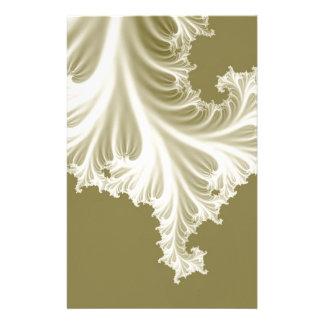 Pearl wedding dress train effect 3D fractal. Custom Stationery
