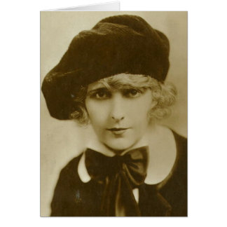 Pearl White 1920s vintage portrait card