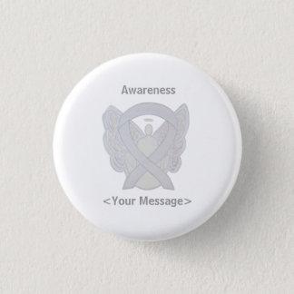 Pearl White Angel Awareness Ribbon Custom Pins