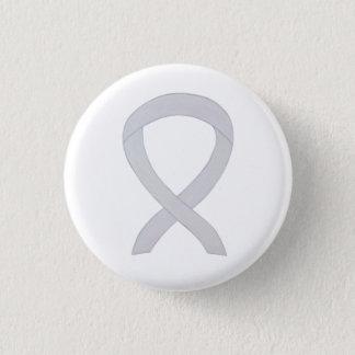 Pearl White Awareness Ribbon Custom Button Pins