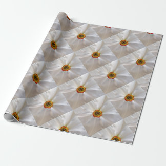pearl white narcissus wrapping paper