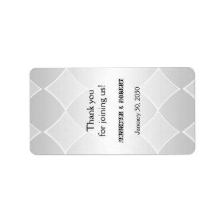 Pearled Grey Diamond Wedding Lip Balm Label