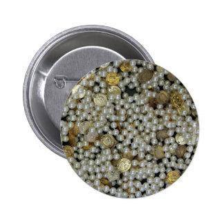 Pearls 2 Inch Round Button