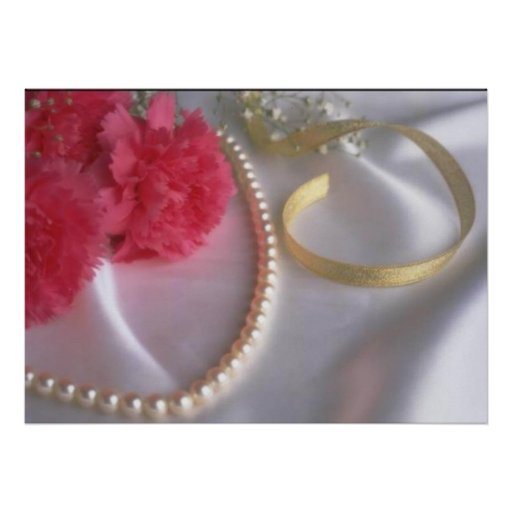 Pearls and carnations by tdgallery poster