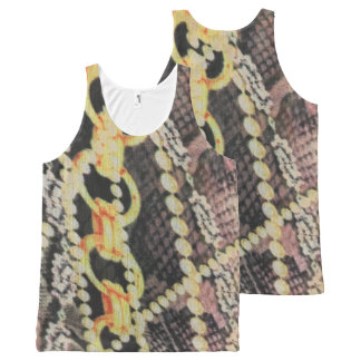 """""""Pearls and Chains"""" All over print All-Over-Print Tank Top"""