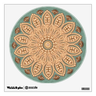 Pearls and Diamonds Mandala Wall Decal