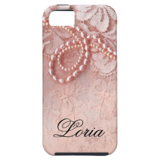 Pearls and Lace Signature | peony pink iPhone 5 Covers