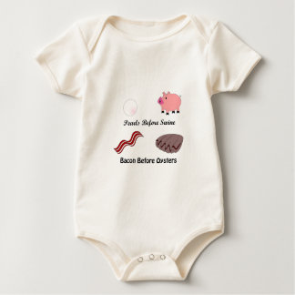Pearls Before Swine Bacon Before Oysters Baby Bodysuit