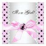 Pearls Black Pink Ladybug Baby Girl Shower