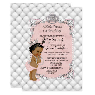 Pearls Diamonds Ethnic Princess Baby Girl Glam Card