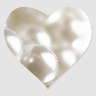Pearls Heart Sticker
