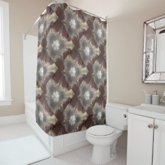 Pearls in the sand collection shower Curtain