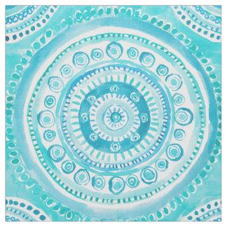PEARLS OF WISDOM Mermaid Mandala Watercolor Fabric