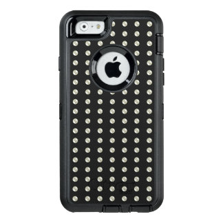 Pearls on black OtterBox iPhone 6/6s case