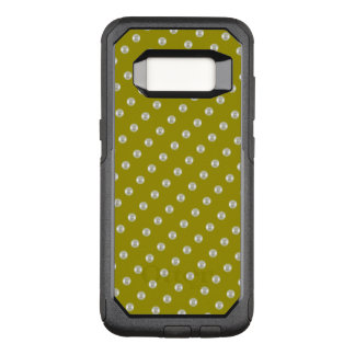 Pearls on dark green OtterBox commuter samsung galaxy s8 case
