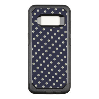 Pearls on midnight blue OtterBox commuter samsung galaxy s8 case