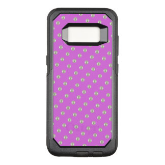 Pearls on purple OtterBox commuter samsung galaxy s8 case