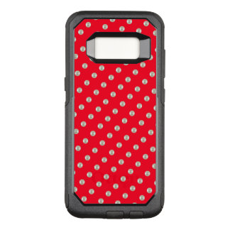 Pearls on red OtterBox commuter samsung galaxy s8 case