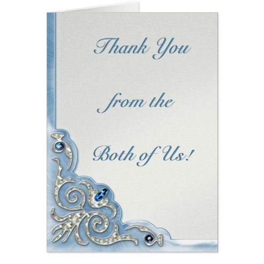 Pearly Blue (Thank You Note) Card
