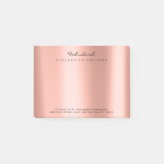 Pearly Blush Name Web Telephone Number Coral Post-it Notes