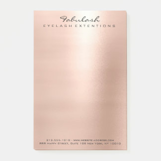 Pearly Blush Pink Rose Gold Powder Luxury Post-it Notes