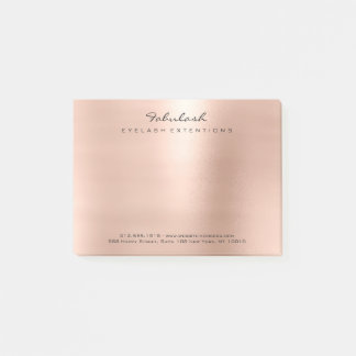 Pearly Blush Pink Rose Gold Powder Minimal Post-it Notes